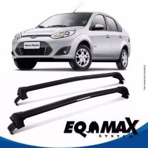 Rack Teto Eqmax New Wave Fiesta Sedan Rocan 03/16 Preto