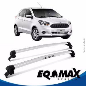 Rack Teto Eqmax New Wave Novo Ford Ka Hatch 15/17 Prata