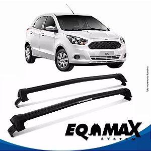 Rack Teto Eqmax New Wave Novo Ford Ka Hatch 15/17 Preto