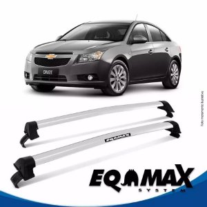 Rack Teto Eqmax New Wave Chevrolet Cruze Sedan 12/14 Prata