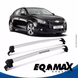 Rack Teto Eqmax New Wave Chevrolet Cruze Hatch 12/14 Prata