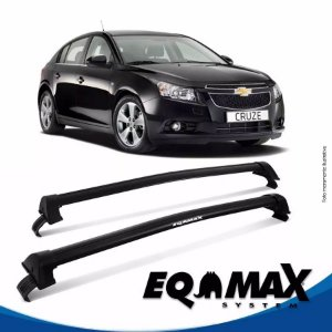 Rack Teto Eqmax New Wave Chevrolet Cruze Hatch 12/14 Preto