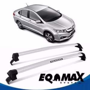 Rack Teto Eqmax New Wave Honda City 2015 Bagageiro Prata