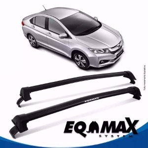 Rack Teto Eqmax New Wave Honda City 2015 Bagageiro Preto