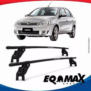 Rack Aço Teto Eqmax Corsa Premium Sedan 02/12 Fixação Porta