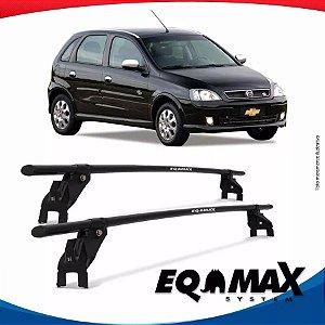 Rack Aço Teto Eqmax Chevrolet Corsa Ss 02/12 Fixação Porta