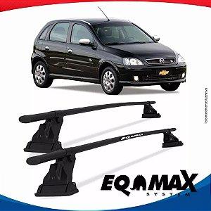 Rack Aço Teto Eqmax Chevrolet Corsa Ss 02/12 Fixação Friso