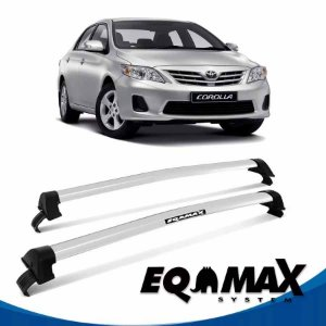 Rack Teto Eqmax New Wave Corolla 15/16 Bagageiro Prata