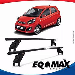 Rack Aço Teto Eqmax Kia Picanto 14/15 Fixação Porta