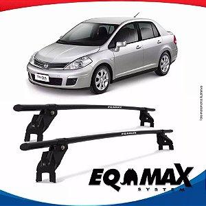Rack Aço Teto Eqmax Nissan Tiida 4 Pts 07/13 Fixação Porta