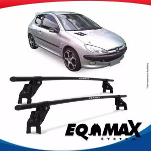 Rack Aço Teto Eqmax Peugeot 206 Hatch 2 Portas 99/10