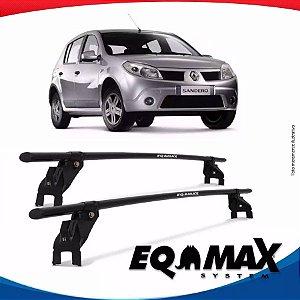Rack Aço Teto Eqmax Renault Sandero 08/12 Fixação Friso