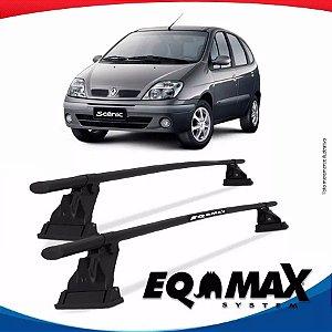Rack Aço Teto Eqmax Renault Scenic 99/11 Fixação Friso