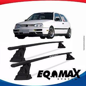Rack Aço Teto Eqmax Vw Golf Antigo 2 Pts 94/98 Fixação Friso