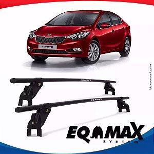 Rack Teto Eqmax Aço Kia Cerato 11/15 Fixação Porta