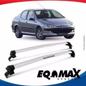 Rack Teto Eqmax New Wave Peugeot 206 Hatch 99/10 4 Portas Prata