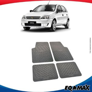 Tapete Borracha Eqmax Chevrolet Novo Corsa Hatch