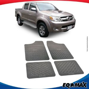 Tapete Borracha Eqmax Toyota Hilux Cabina Dupla