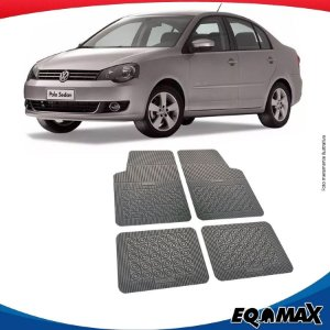 Tapete Borracha Eqmax Volkswagen Polo Sedan