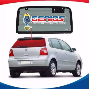 Vigia Térmico Volkswagen Polo Hatch 03/06 Vidro Traseiro Com Furo