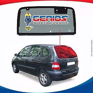 Vigia Térmico Renault Scenic 99/... Vidro Traseiro Com Furo