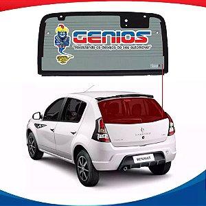Vigia Térmico Renault Sandero 06/14 Vidro Traseiro Com Furo
