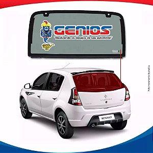 Vigia Liso Renault Sandero 06/14 Vidro Traseiro Sem Furo