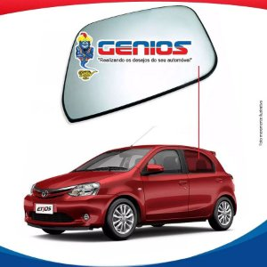 Vidro Porta Traseiro Esquerdo Toyota Etios Hatch 12/...