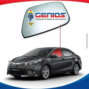 Vidro Porta Dianteiro Esquerdo Toyota Corolla 2014/...
