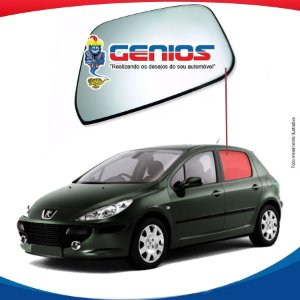 Vidro Porta Traseiro Esquerdo Peugeot 307 Hatch 01/12 4 Pts