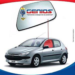 Vidro Porta Dianteiro Esquerdo Peugeot 206 98/08 4 Portas