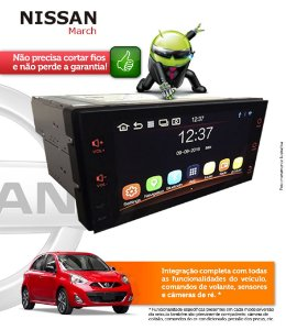 Central Multimidia Nissan March Original Android