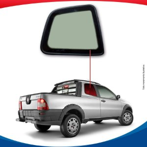Janela Fixa Traseira Direita Fiat Strada Cabine Dupla 09/...