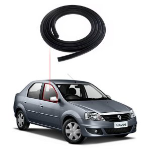 Borracha Porta Dianteira Direita Renault Logan 07/...