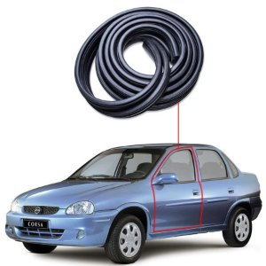 Borracha Tri-bulbo Porta Dianteira Esquerda Gm Corsa Sedan
