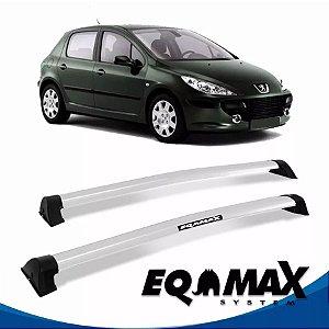 Rack Teto Eqmax Wave Peugeot Hatch 307 02/12 4 Pts Prata