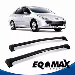 Rack Teto Eqmax Wave Peugeot 307 02/12 4 Pts Preto