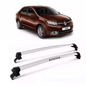 Rack de Teto  Eqmax New Wave Renault Logan 15/17 4 Pts Prata