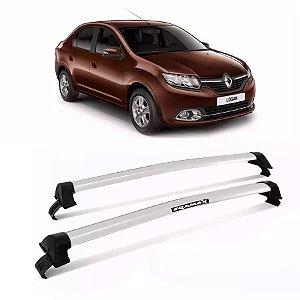 Rack Teto Eqmax New Wave Renault Logan 15/17 4 Pts Prata