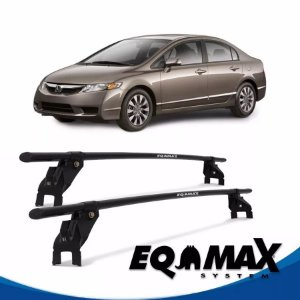 Rack Teto Eqmax Aço Honda New Civic 06/11