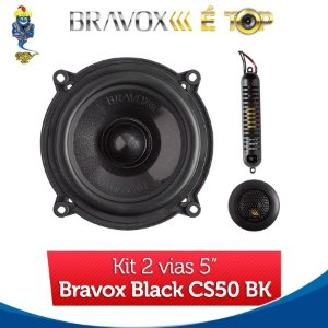 "KIT 2 Vias 5"" Bravox Black CS50 BK"