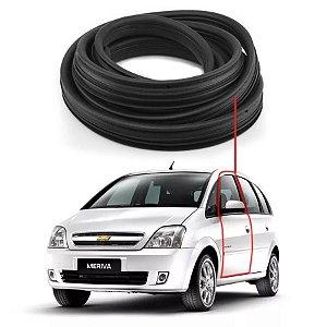 Borracha Com Aba Porta Dianteira Esquerda Chevrolet Meriva