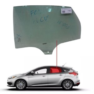 Vidro Porta Traseira Esquerda Ford Focus 14/... Pilkington