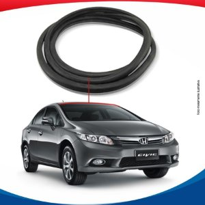 Borracha Superior Parabrisa Honda New Civic 13/16