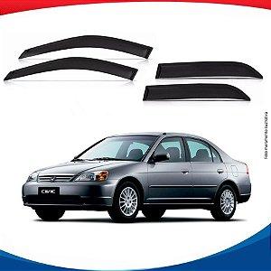 Calha de Chuva Honda Civic 01 a 06