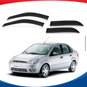 Calha de Chuva Ford Fiesta Amazon Sedan 02/07 4 pts