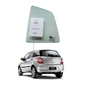 Óculo Traseiro Esquerdo Chevrolet Agile 09/... Pilkington