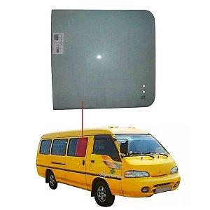 Vidro Janela 1° Porta De Correr Hyundai H100 86/96 Vetroex