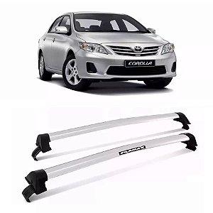 Rack de Teto  Eqmax New Wave Toyota Corolla 15/17 Prata