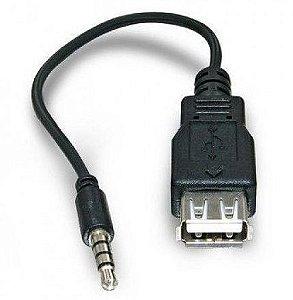Cabo auxiliar com saida USB